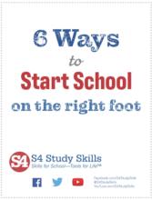 6 Ways to Start School on the Right Foot
